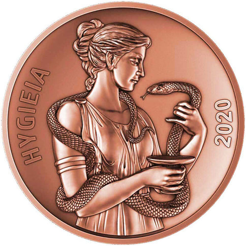 2020 Samoa 50c Goddess Hygieia 2oz Copper Coin