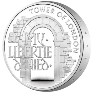 2020 UK £5 Tower of London - Prison Piedfort Silver Proof