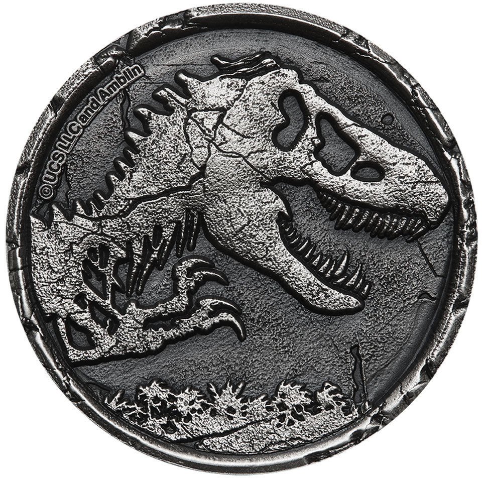 2021 Niue $5 Jurassic World High Relief 2oz Silver Coin