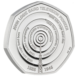 2021 UK 50p John Logie Baird Silver Proof