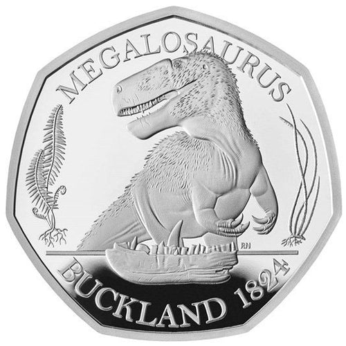 2020 UK 50p Dinosaurs - Megalosaurus Silver Proof