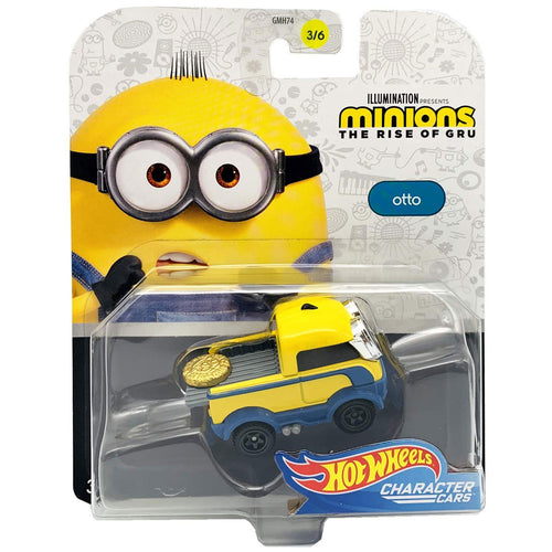 Hot Wheels Minions Character - Otto Die Cast Car