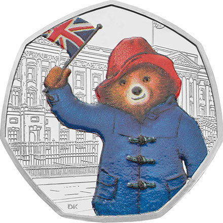 2018 UK 50p Paddington Bear at the Palace Silver Proof Coin