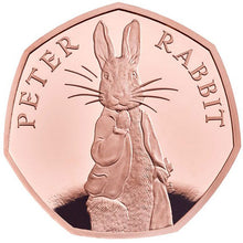 2019 UK 50p Peter Rabbit Gold Proof