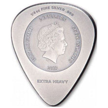 2019 Cook Isl. $2 Woodstock Guitar Pick 1/4oz Silver Coin