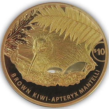 2021 NZ $10 Kiwi 1/4oz Gold Proof Coin