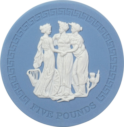 2018 TDC £5 Three Graces Wedgwood Jasper Ware Coin