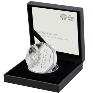 2020 UK 50p Rosalind Franklin Silver Piedfort Proof