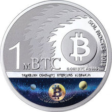 2019 1mBTC Binary Bull 1oz Silver Coin
