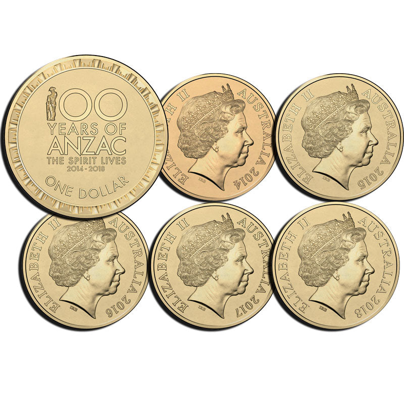 2014-2018 $1 Spirit Lives Five-Coin Set