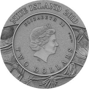 2019 Niue $2 Evolution - Starfish 2oz Silver Coin