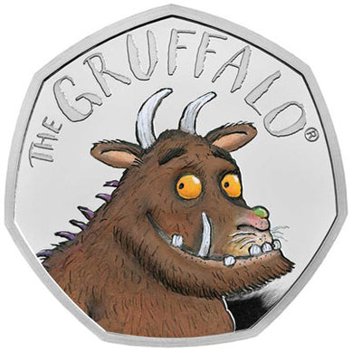 2019 UK 50p Gruffalo Silver Proof