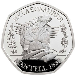2020 UK 50p Dinosaurs - Hylaeosaurus Silver Proof