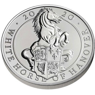2020 UK £5 Queen's Beasts - White Horse of Hanover CuNi BU