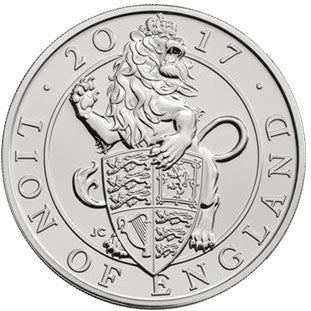 2017 UK £5 Queen's Beasts - Lion CuNi BU