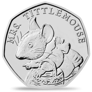 2018 UK 50p Mrs Tittlemouse Brilliant Uncirculated Coin
