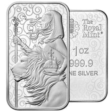 2021 UK Great Engravers - Una And The Lion 1oz Silver Bar