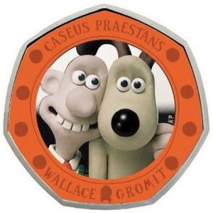 2019 UK 50p Wallace & Gromit Silver Proof Coin