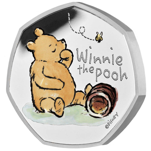 2020 UK 50p Winnie the Pooh Silver Proof
