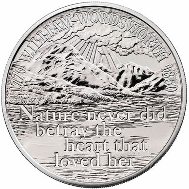 2020 UK £5 Wordsworth BU Coin