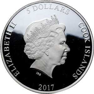 2017 Cook Isl. $5 Wizard of Oz 1oz Silver Proof