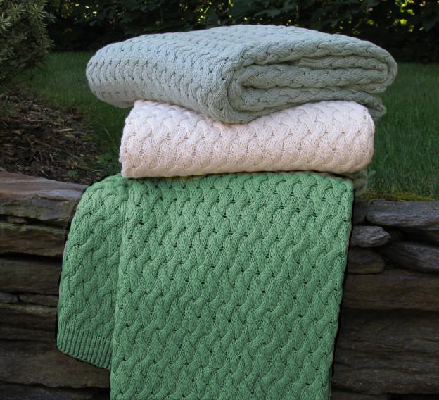 Basket Weave Cotton Throw