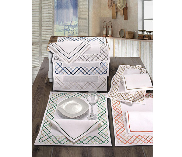 Soft Squares  Linen Placement and Napkin