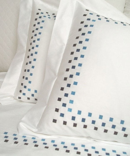 Blue Squares Pillow Case