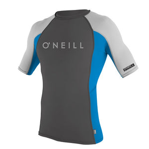 O'NEILL YOUTH SKINS S/S CREW UV TEE Grey/Blue/Lunar