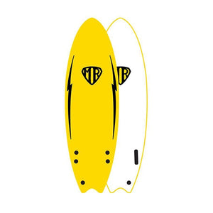 "O&E MR EZI-RIDER TWIN FIN 5'6"" YELLOW"