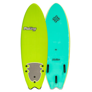 PLATINO SOFTBOARD 6'0 FISH LIME TURQUOISE