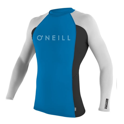 O'NEILL YOUTH SKINS L/S CREW UV TEE Blue/White/Blk