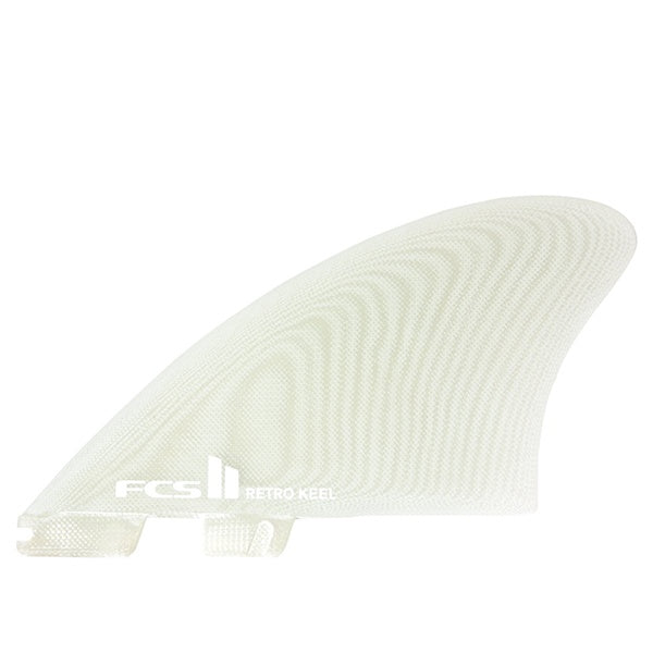 FCS II RETRO KEEL TWIN FIN PG CLEAR