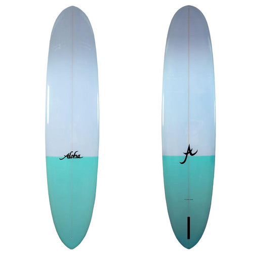 ALOHA PINTAIL NOSE RIDER PU TWO TONE AQUA 9'4