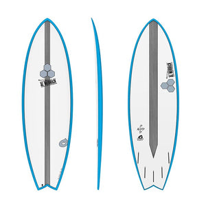 "TORQ CHANNEL ISLANDS POD MOD 5'6"" BLUE RAIL"