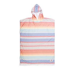 O&E YOUTH SUNKISSED LIGHTWEIGHT HOODED PONCHO