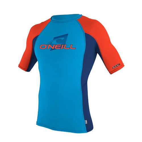 O'NEILL YTH SKINS S/S CREW UV 50+ Blue/Red