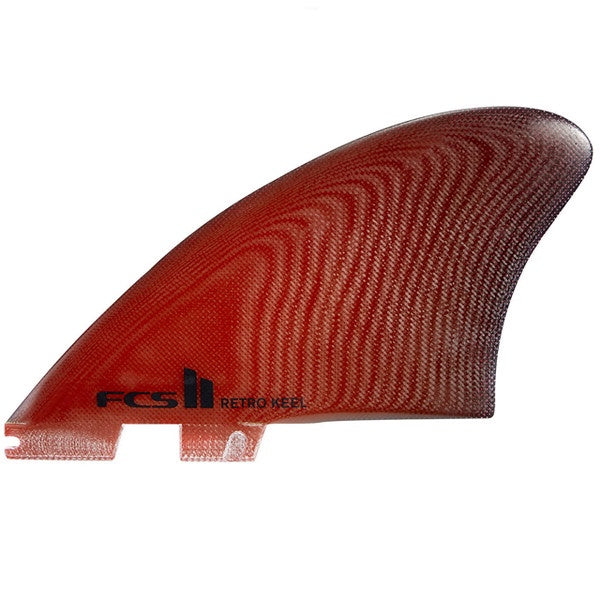 FCS II RETRO KEEL TWIN FIN PG RED