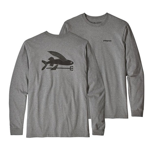 PATAGONIA MENS L/SL FLYING FISH RESPONSIBILI TEE