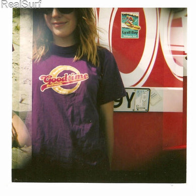 Retro GOODTIME T-Shirt - Purple
