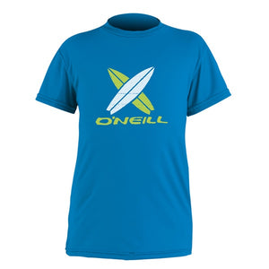 O'NEILL TODDLER SKINS RASH/UV S/S TEE Bright Blue / Pink