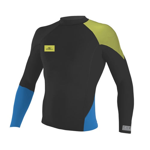 O'NEILL YOUTH SUPERFREAK L/S CREW 1MM BLK/Blue/Lime