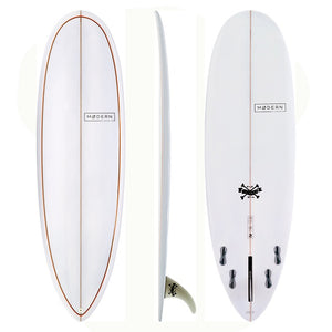 "MODERN LOVE CHILD 6'8"" GREY/ORANGE PINLINE"