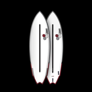 CHANNEL ISLAND TWIN FIN DAUL CORE 5'8 FCS II EPOXY