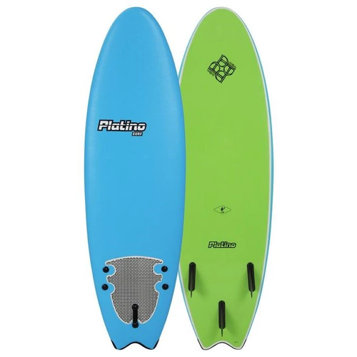 PLATINO SOFTBOARD 5'6 FISH AZURE BLUE LIME