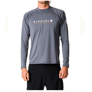 RIP CURL MENS SHOCKWAVE RELAXED L/S UVT Grey Marle UV50+