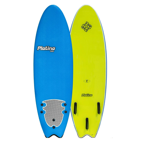 PLATINO SOFTBOARD 6'0 FISH BLUE ELECTRIC LEMON