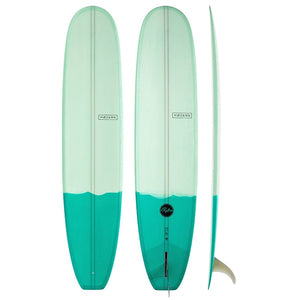 "MODERN RETRO P.U 9'6"" TWO TONE GREEN"