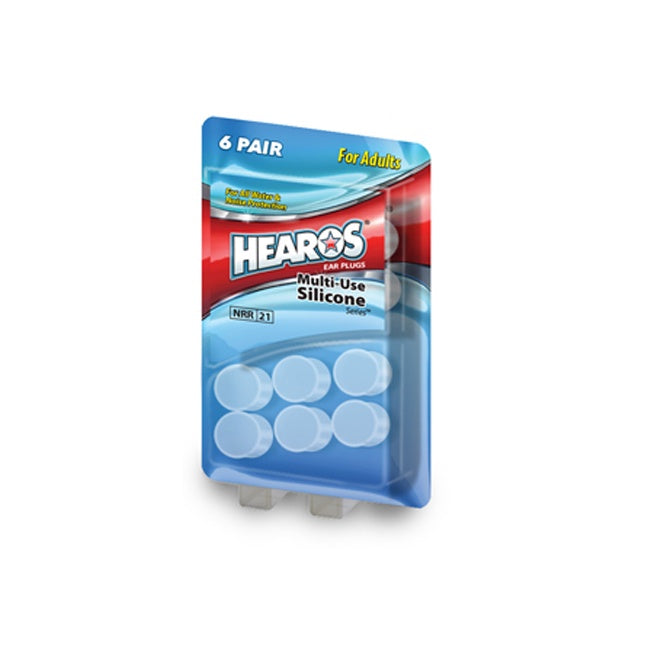 HEAROS MULTI USE SILICONE EAR PLUGS ADULTS (8 PAIRS)