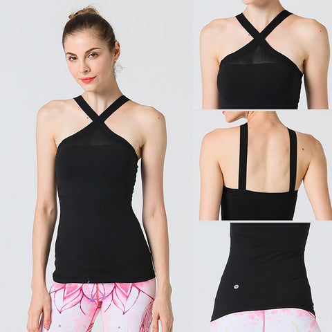Women Performance Top Vest with Removeable Pads